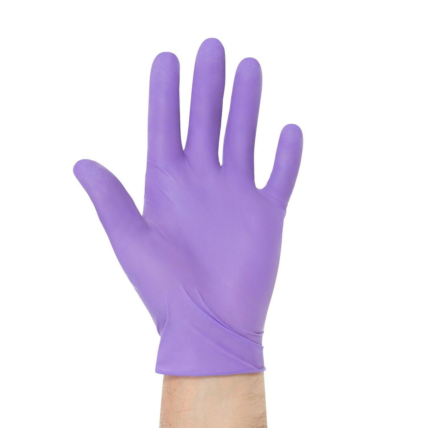 purple nitrile exam gloves box of 100