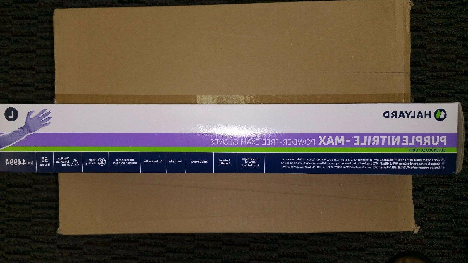 "HALYARD HEALTH PURPLE MAX 16"" LARGE BOX of 50"