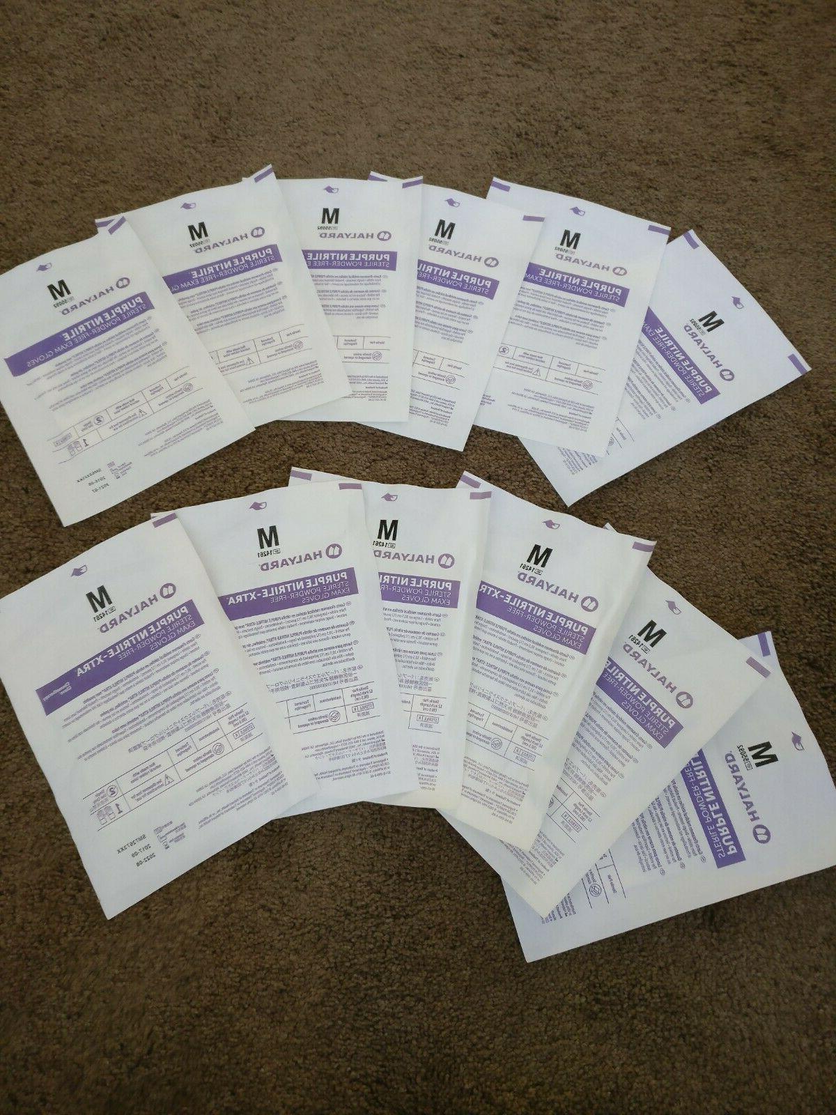 purple nitrile sterile gloves powder free latex