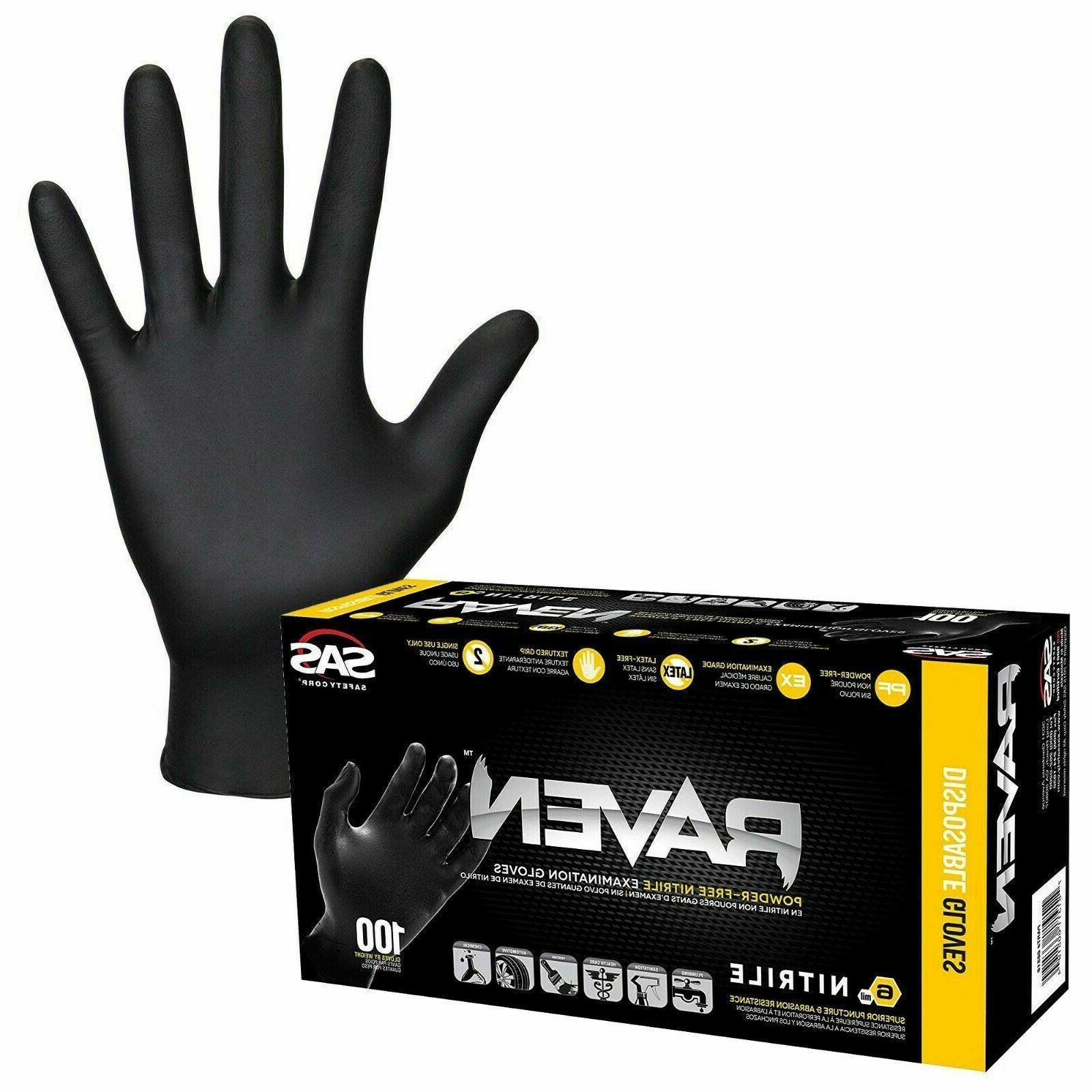 raven black nitrile gloves powder free shipping