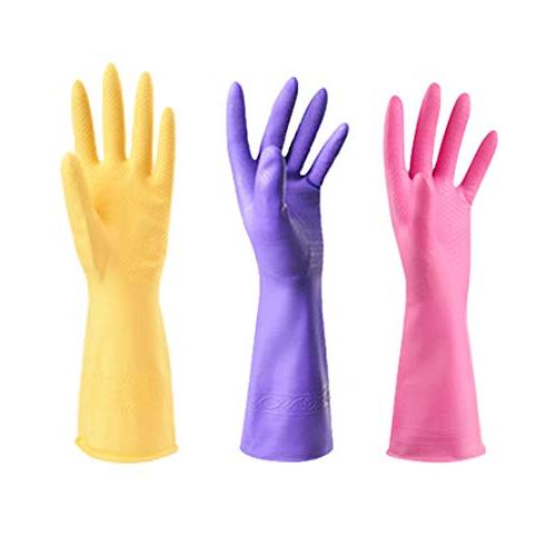 rubber gloves reuseable kitchen cleaning
