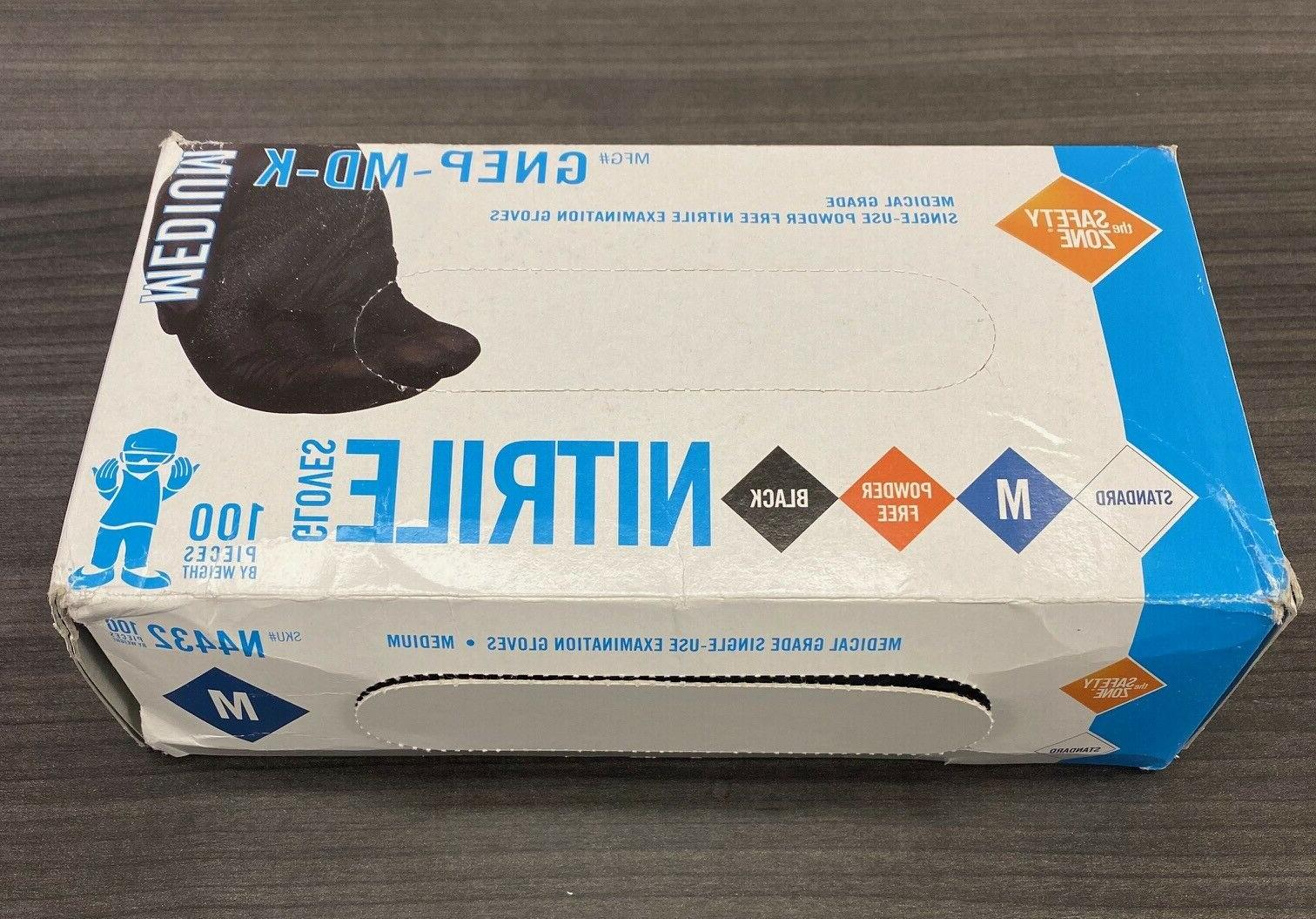 Safety Zone Black Gloves 100% LATEX or 100Bx