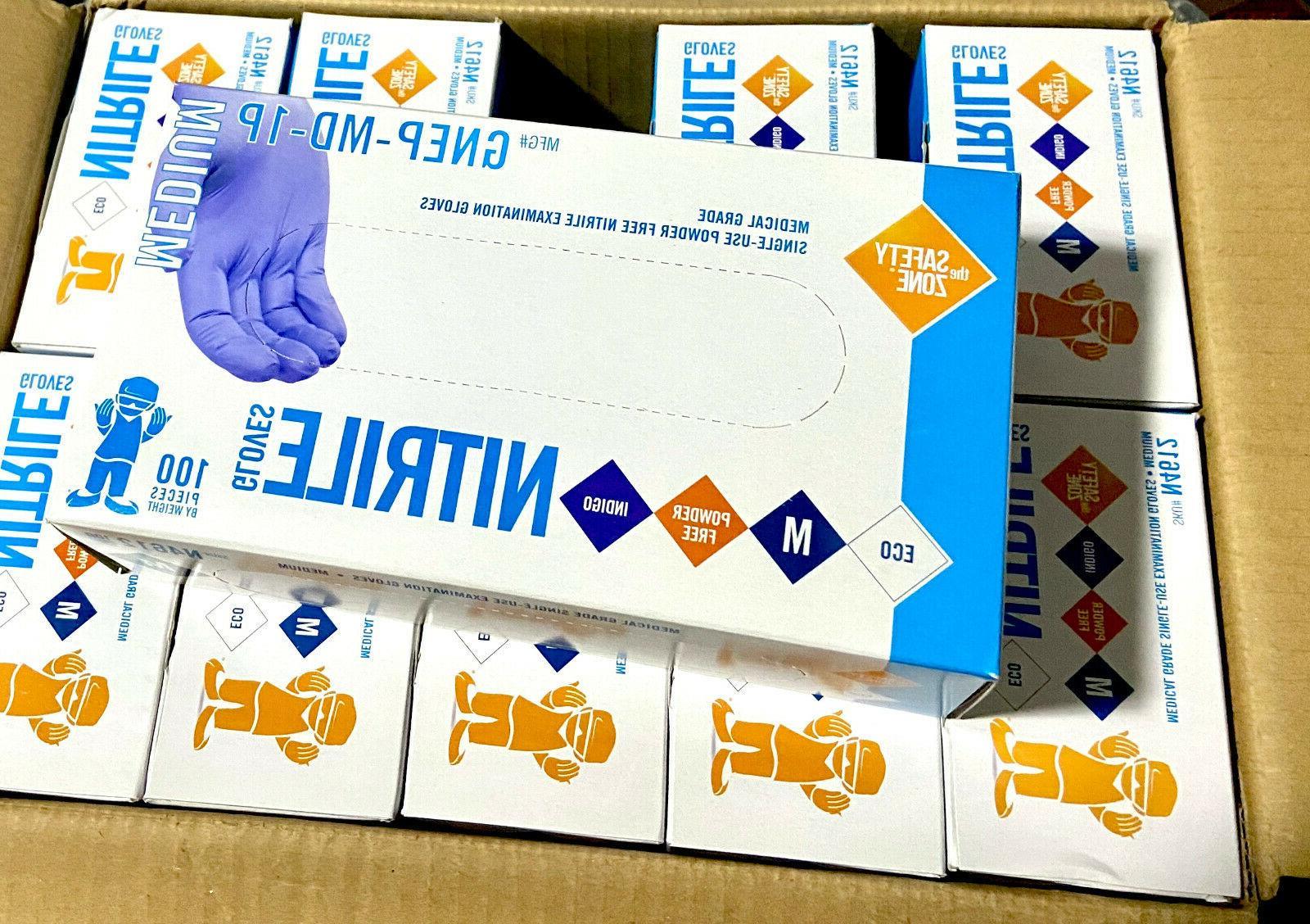 KC500 Purple Nitrile Exam Gloves Non-Sterile Powder-Free Med