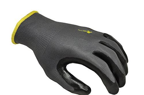 G & Seamless Knit Nitrile Coated Work Gloves, Large,
