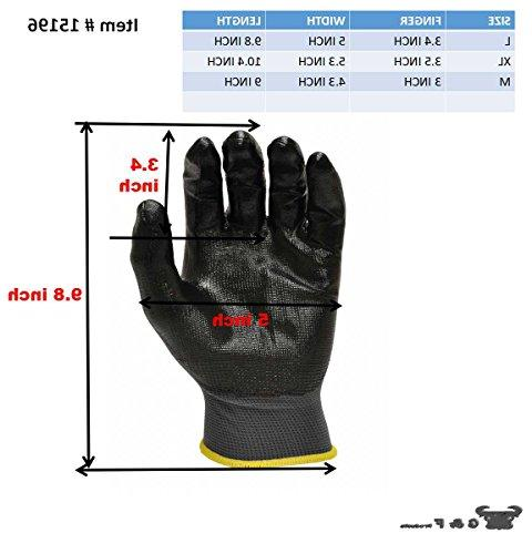 G F Seamless Nitrile Coated Work Gloves, Gloves, Black, Pair