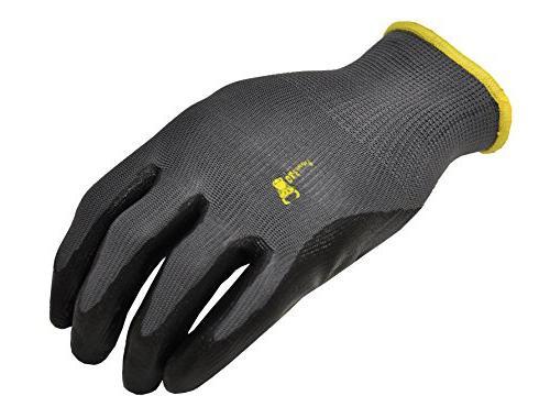 G F Seamless Nylon Coated Gloves, Black, Pair
