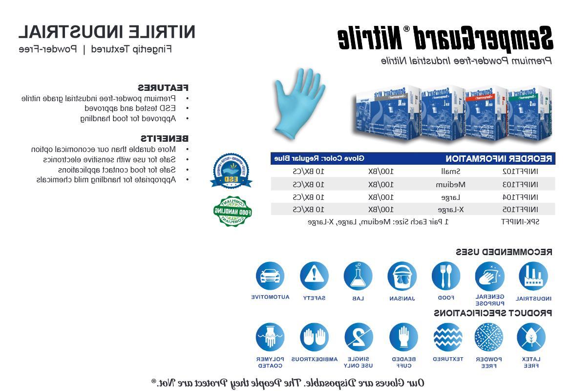 SemperGuard Blue Nitrile Powder-Free Exam Grade