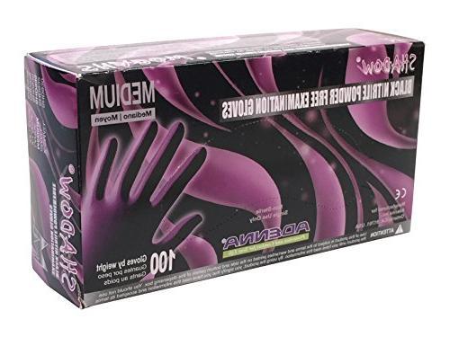shadow nitrile powder exam gloves