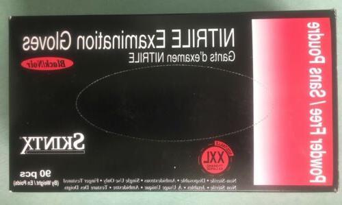 skintx blk50025 nitrile medical grade examination gloves