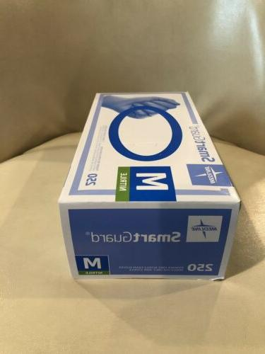 Medline SmartGuard  Nitrile Exam Powder Free gloves 250. Med