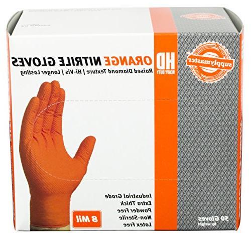 SupplyMaster - - - Disposable, Powder Industrial, 8 Orange