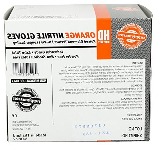 SupplyMaster SMDTON8M-BX - Diamond - Disposable, Industrial, Medium, Orange