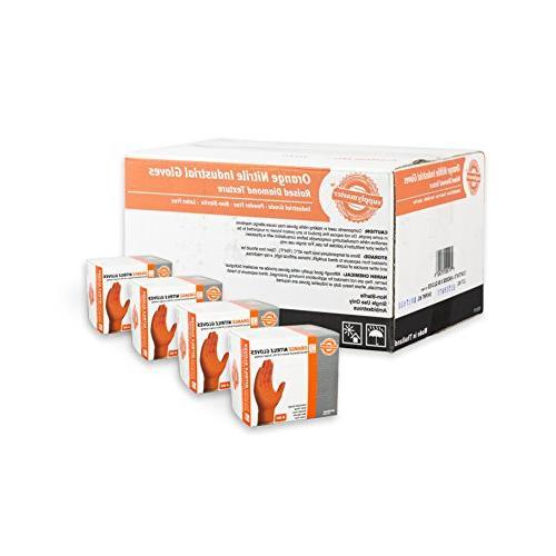 SupplyMaster - SMDTON8L - Diamond Texture Nitrile Gloves - D