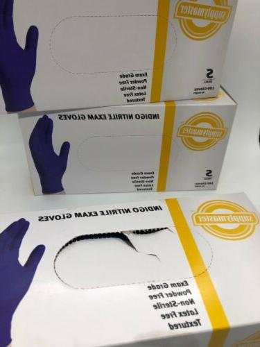 SupplyMaster Nitrile Exam Gloves 4 Box See Details, Size Small