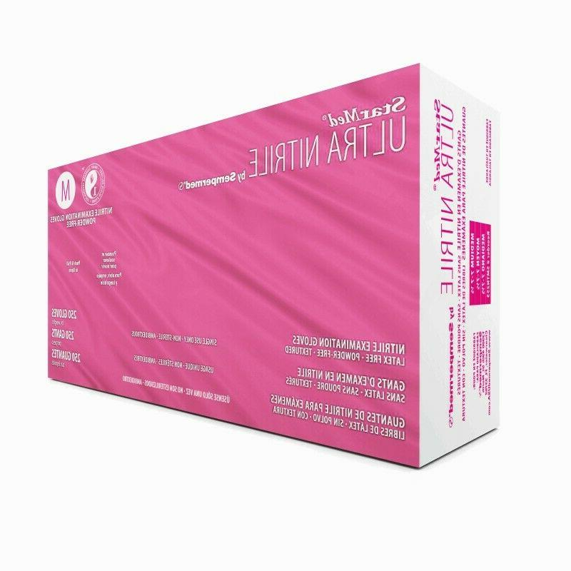 starmed ultra nitrile exam disposable glove pf