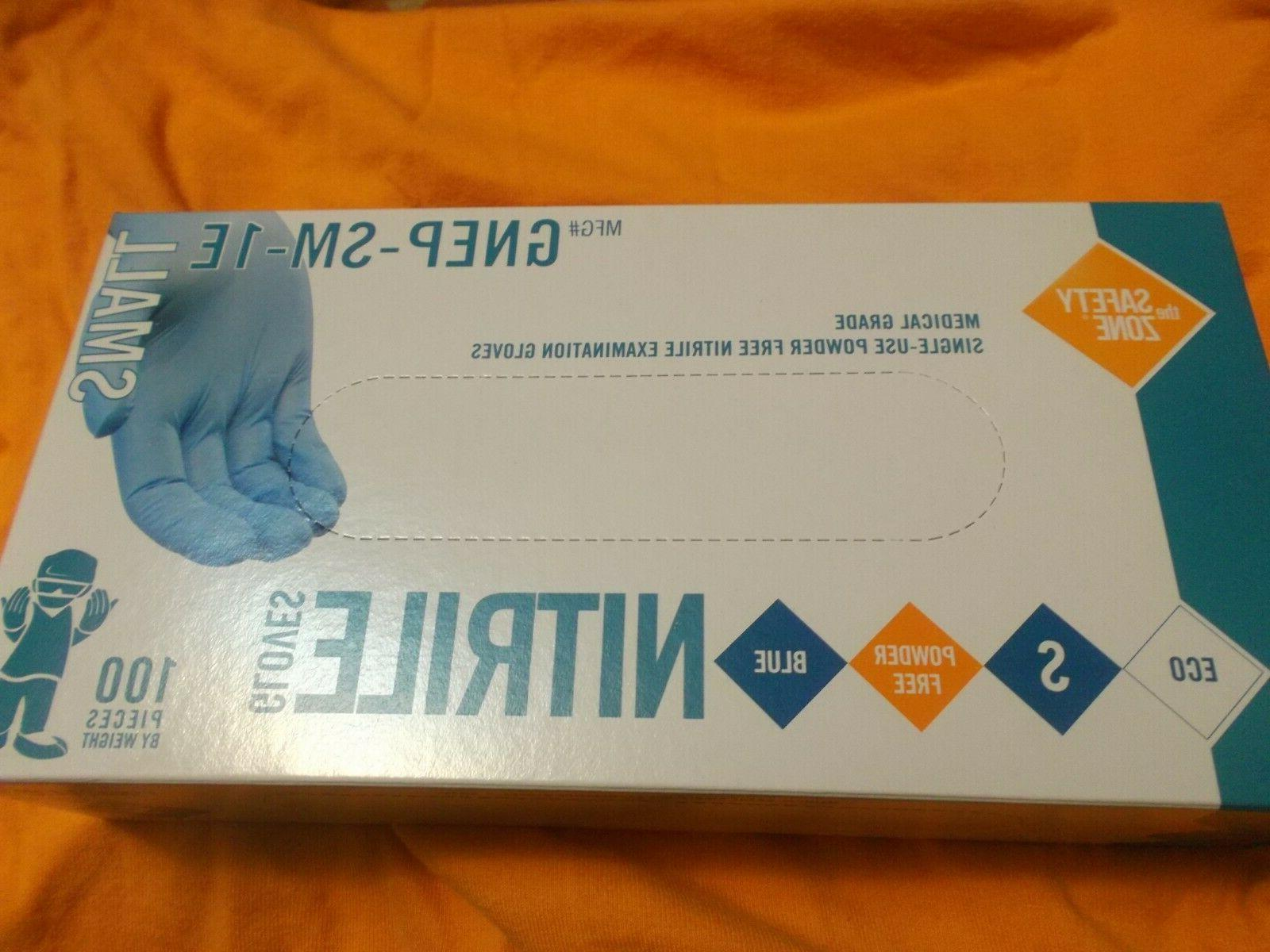 Unopened Box Nitrile Safety/Exam Gloves -Size Based