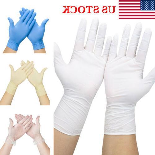 US Lot Disposable Free Non-Latex White S, M, L