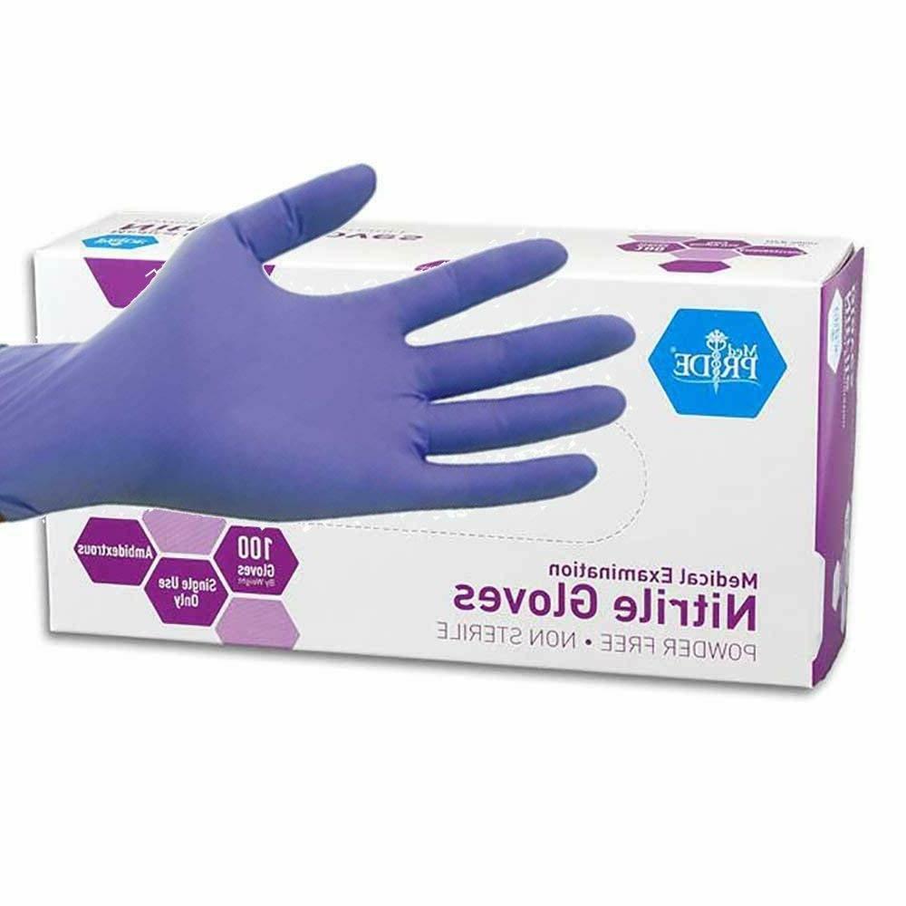 usa pride powder free nitrile exam gloves