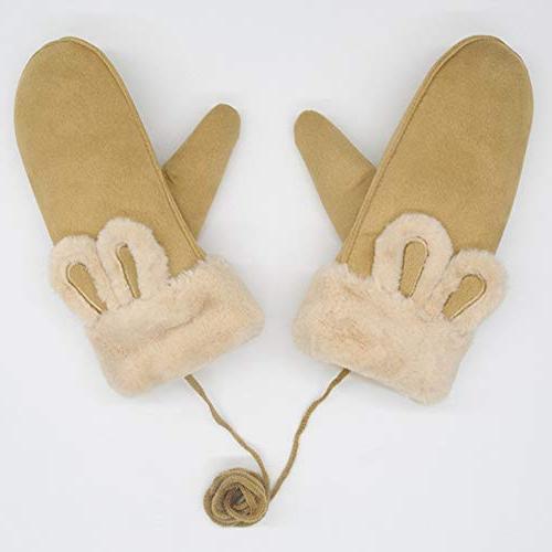 CactusAngui Winter Thick Hanging Rabbit Finger