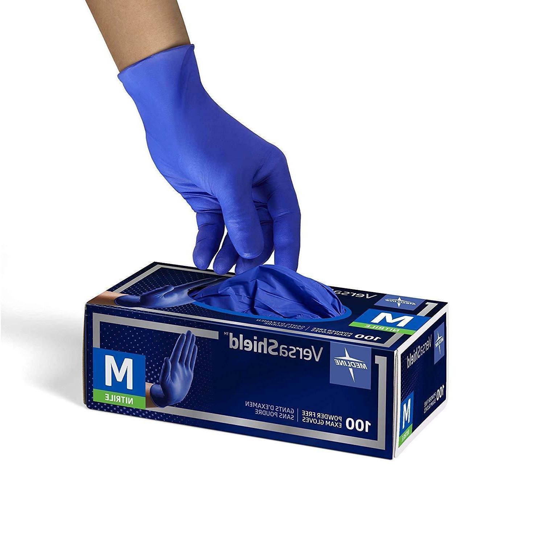 Medline VersaShield Cobalt Nitrile Exam PowderFree Small