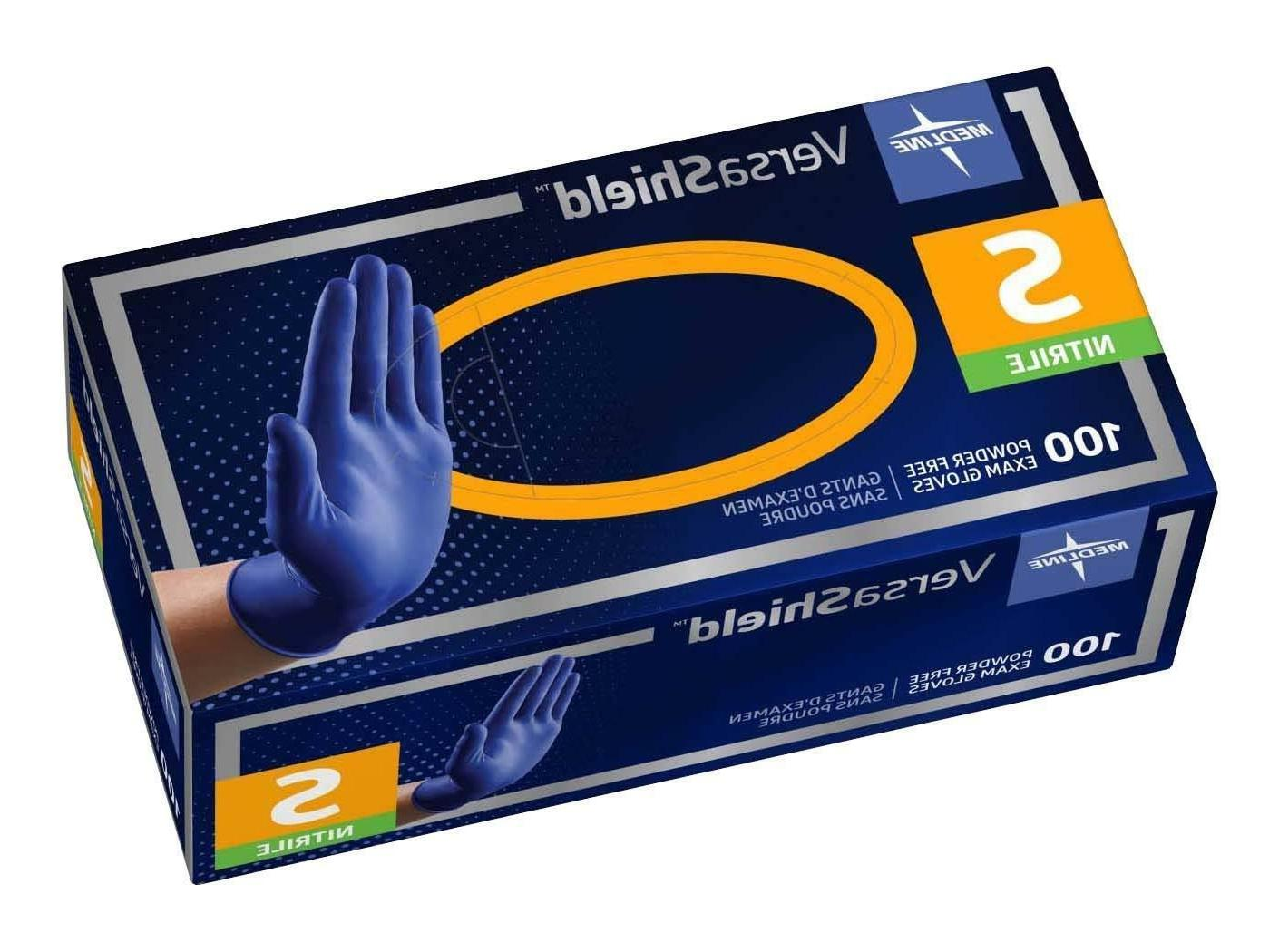 versashield cobalt blue nitrile exam gloves powderfree