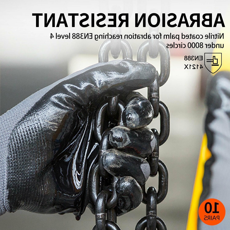 Vgo 10/20/30Pairs Coat Yard,Garden,Construction Gloves