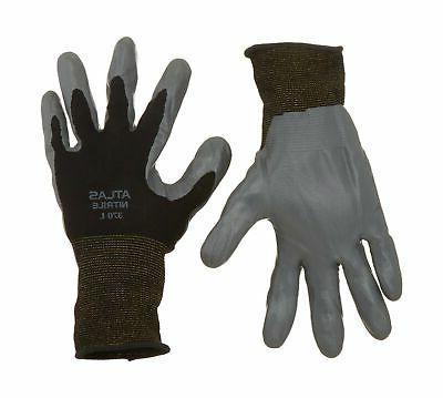 12 Atlas 370BBK Nitrile Gloves Medium