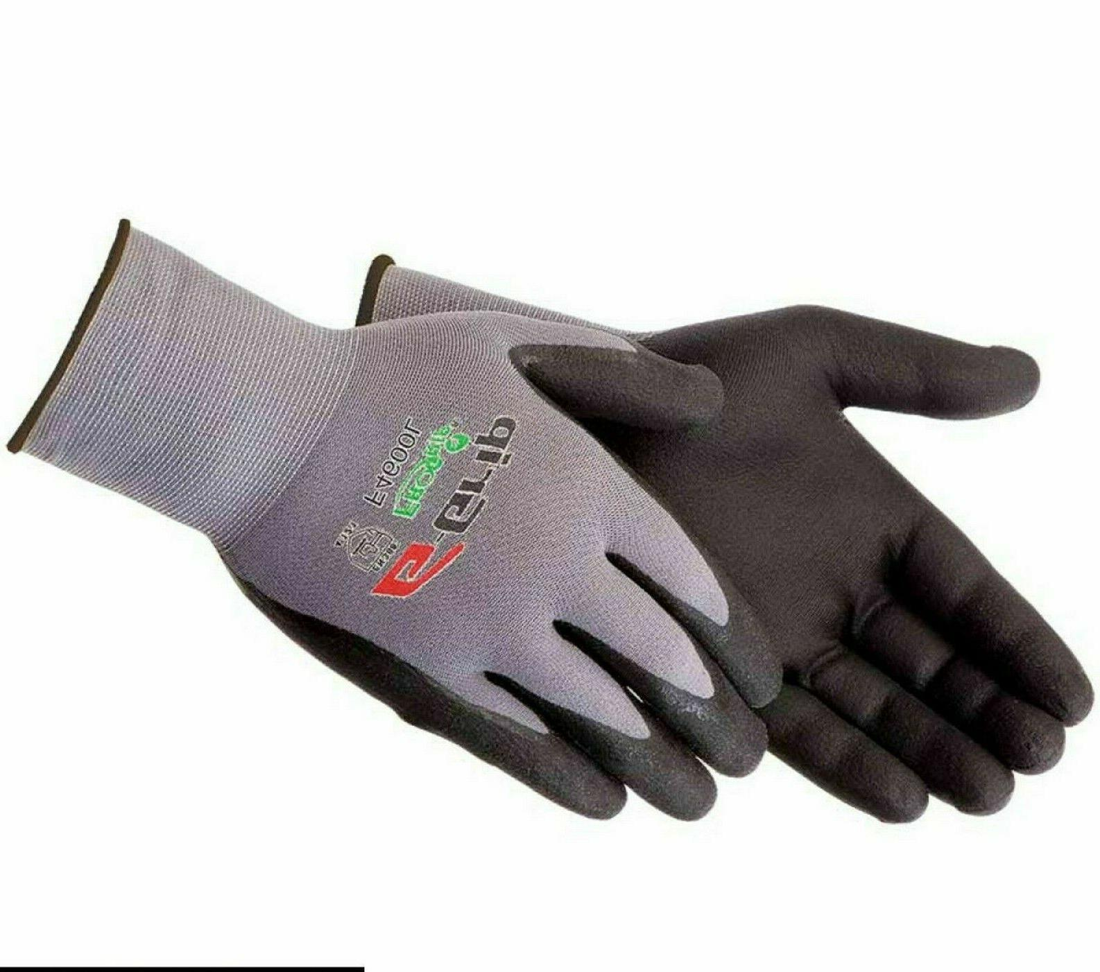 work gloves g grip foam nitrile micro