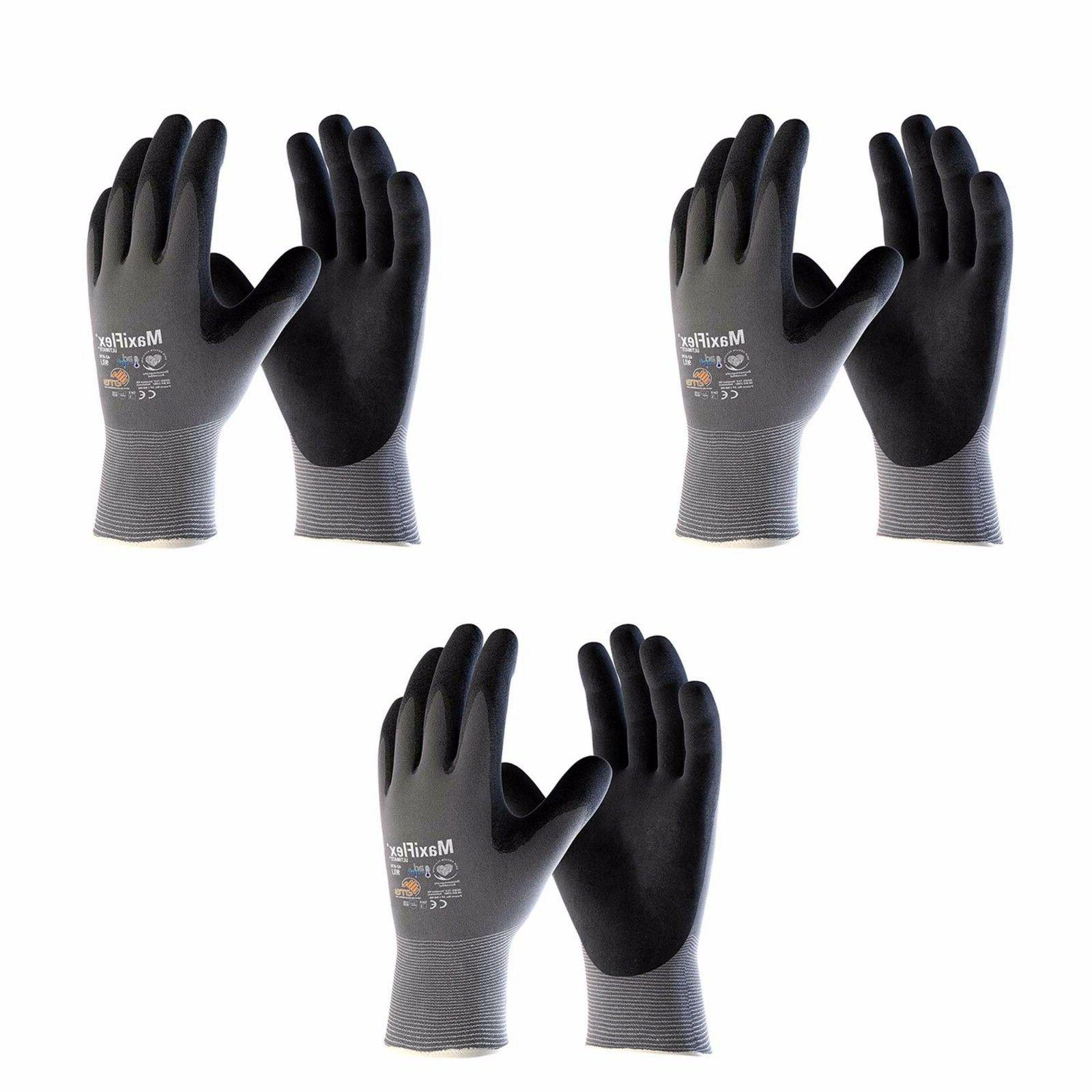 work gloves nitrile grip maxiflex ultimate 42
