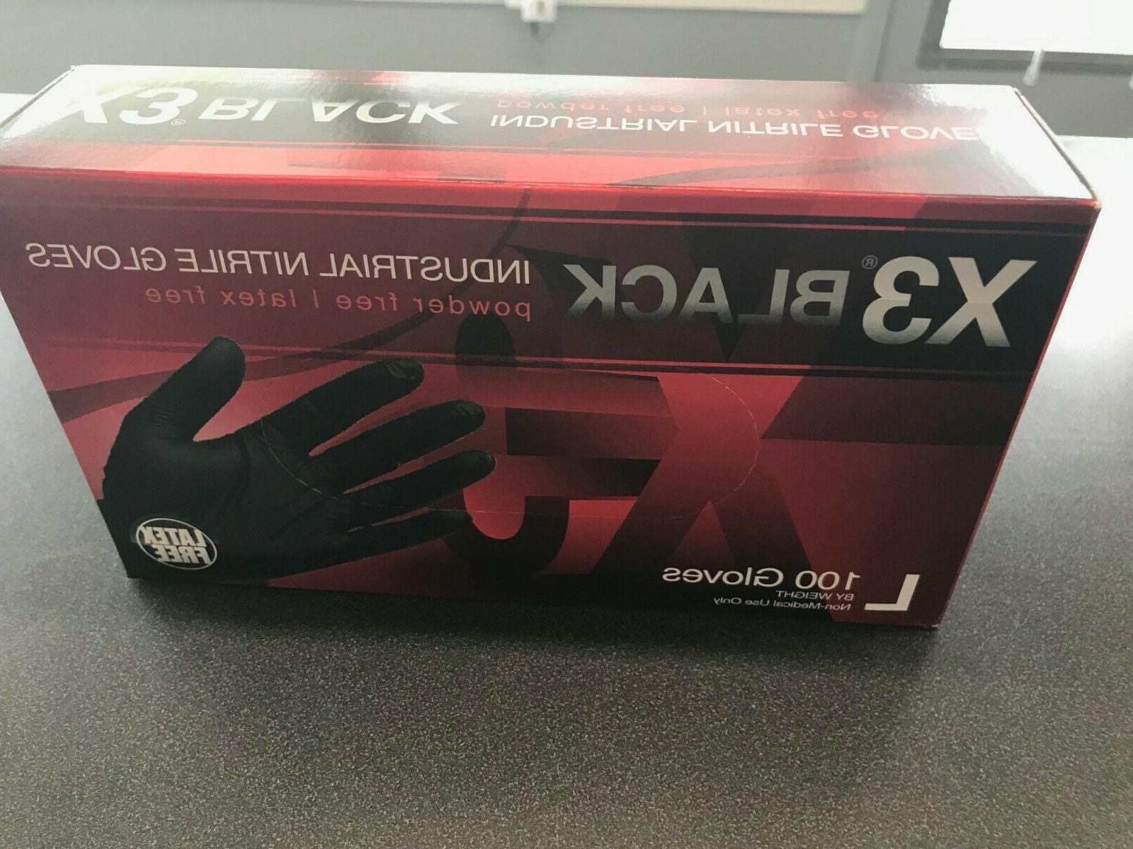 AMMEX X3 Gloves BLACK