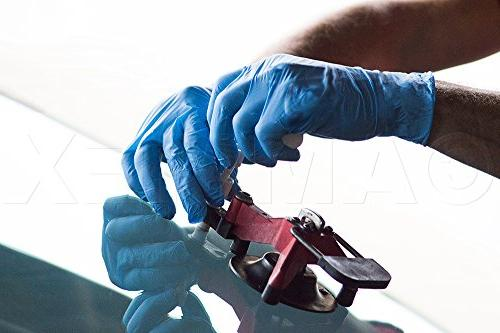 AMMEX Nitrile - Disposable, Powder Free, Free, mil Blue Gloves