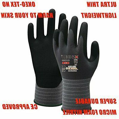 XSHIELD Micro Nitrile Grip Safety Work Gloves 3