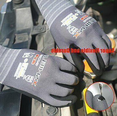 Nitrile Safety Work Gloves 3 Pairs