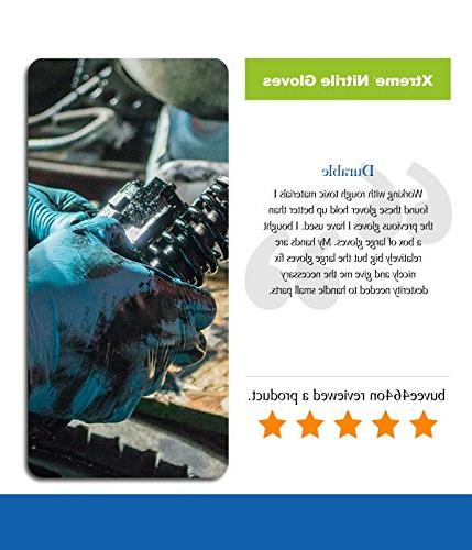 AMMEX - Nitrile - Xtreme - Latex Rubber Free, Industrial,