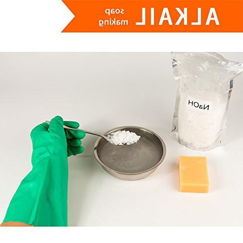 ThxToms Y330DQ Nitrile Resistant Gloves, Alkali and Extra Lar