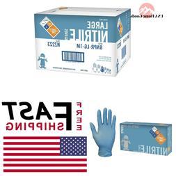 Large Blue Nitrile Glove  Powder-Free Disposable
