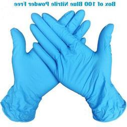 Small BLUE Nitrile Powder-Free Gloves- Box of 100.-- Free Sh