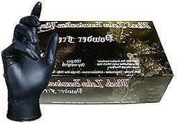 Latex Gloves SkinTx Brand Color Black  95/Box SIZE - X-LARGE