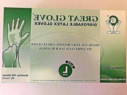 Latex Rubber Gloves LARGE White Disposable - Nitrile Free Po