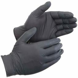 "Liberty Glove Nitrile Gloves "" Safety 2015W-M DuraSkin Black"