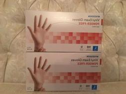 Lot Of 2 McKesson Vinyl Exam Gloves Powder-Free Non-Sterile