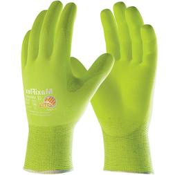 MaxiFlex Active Nitrile Coated Nylon Lycra Work Gloves, Gree