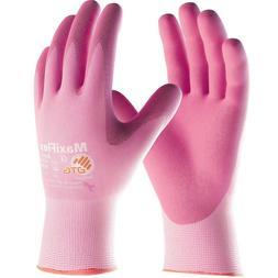 MaxiFlex Active Nitrile Coated Nylon Lycra Work Gloves, Pink