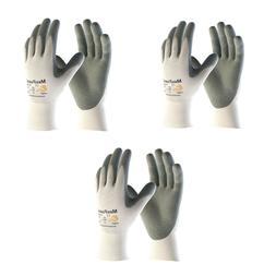 MaxiFoam® Premium 34-800, 3 Pair Pack Nitrile Grip Gloves S