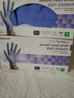 McKesson Confiderm 3.5 C Blue Nitrile Exam Gloves Power Free