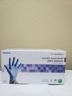 Mckesson Confiderm Exam Blue Gloves Power-Free Medium 100 ct