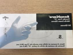 "MEDLINE MDS1284 SensiCare Nitrile Exam Gloves 12"", Small, Qt"