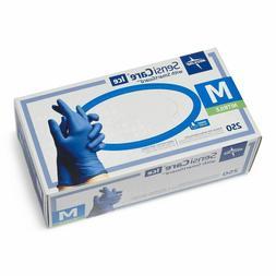 Medline MDS2502H SensiCare 200 Nitrile Exam Gloves,Blue,Medi