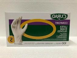 CURAD Medical Grade Latex Textured PF Exam Gloves, Small - 1