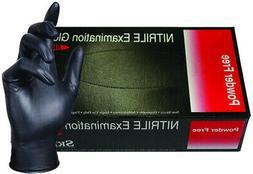 Skintx Medical Grade Nitrile Disposable Gloves, BLK50025-2X-